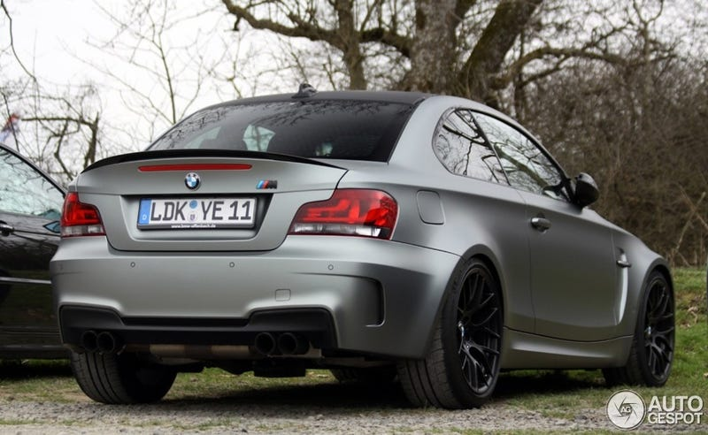 Illustration for article titled Matte Grey BMW 1M Coupe