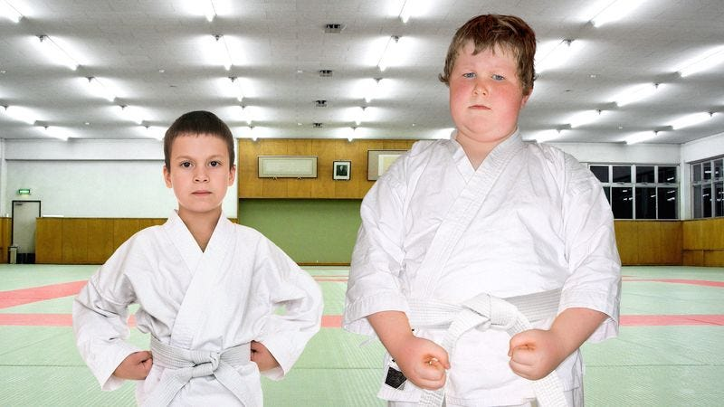Illustration for article titled Tae Kwon Do Instructor Gets Little Thrill Out Of Pairing Off Completely Mismatched 8-Year-Olds