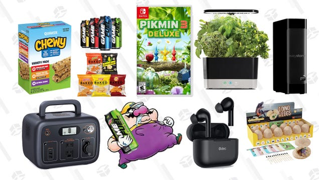 Tuesday s Best Deals: Bulk Snacks, AeroGarden Harvest, Pikmin 3 Deluxe, Dino Egg Dig Kit, 18TB External Hard Drive, Tacklife Portable Power Station, and More