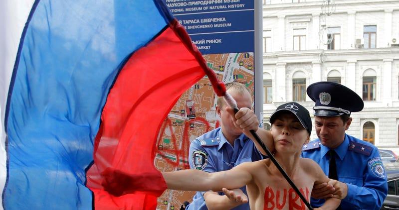Illustration for article titled Hoppá, a FEMEN agytrösztje egy ukrán férfi