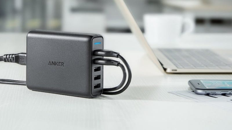 Anker PowerPort 5 with Quick Charge 3.0 | $27 | Amazon | Promo code ANKERQC3