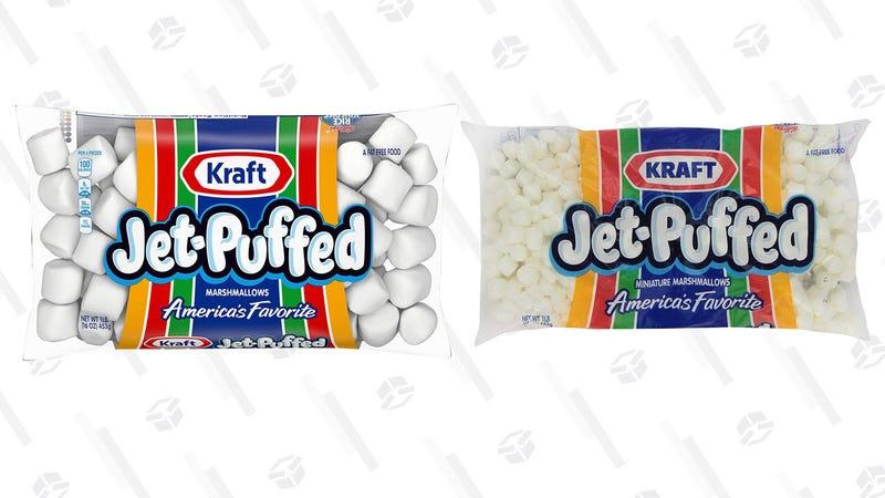 Jet-Puffed Marshmallows, 12 pack   $19   AmazonJet-Puffed Mini Marshmallows, 12 pack   $25   Amazon