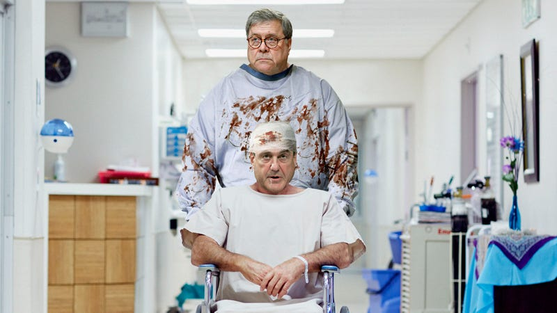 Illustration for article titled Barr Releases Catatonic Mueller After Removing All Sensitive Material From Special Counsel's Brain