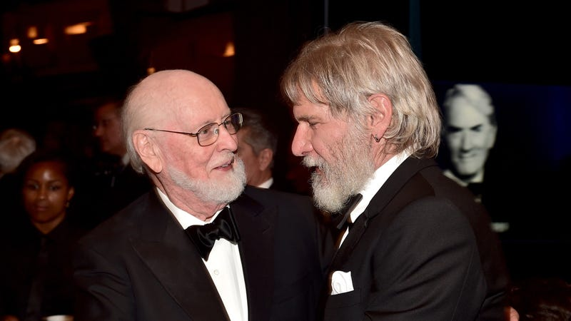 John Williams and some kind of roguish Santa Claus (Photo: Getty Images for Turner, Alberto E. Rodriguez)