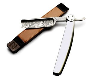 Illustration for article titled $30,000 Damascene Straight Razor: Beware of Accidental Decapitation