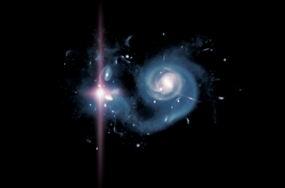 Illustration for article titled A Distant Galaxy Explodes with Light