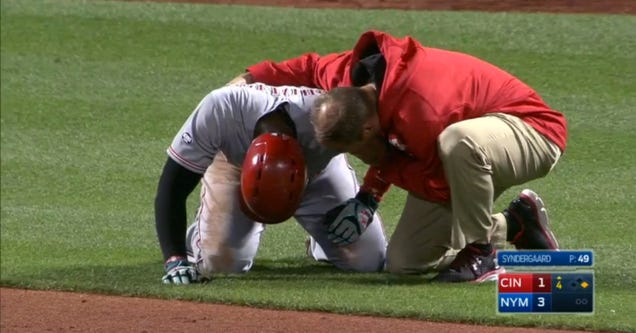 Brandon Phillips leaves game after nightmare at-bat