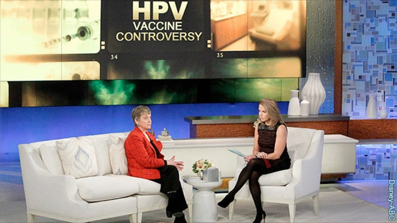 Illustration for article titled Katie Couric Admits She Totally Messed Up Her HPV Vaccine Episode