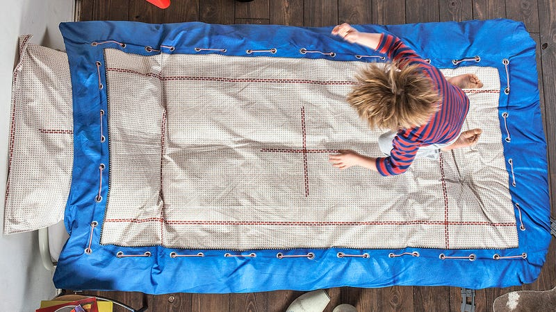 Illustration for article titled Trampoline Sheets Enhance What Beds Are Really For