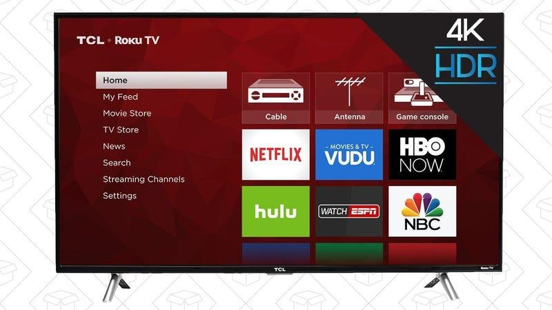 """TCL 49"""" 4K TV, $342"""