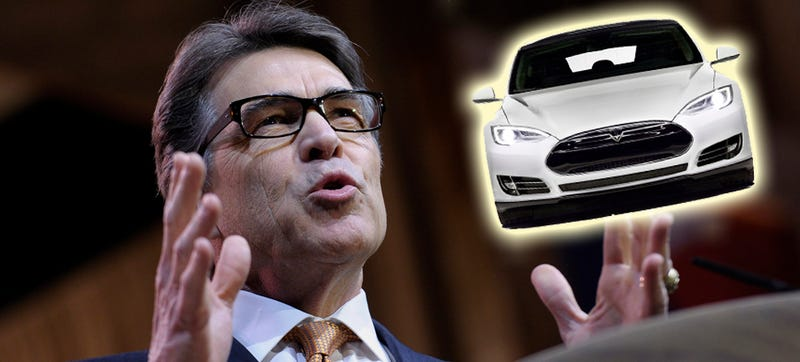 Illustration for article titled Texas Gov. Rick Perry: It's Time To Revisit Anti-Tesla Dealer Laws