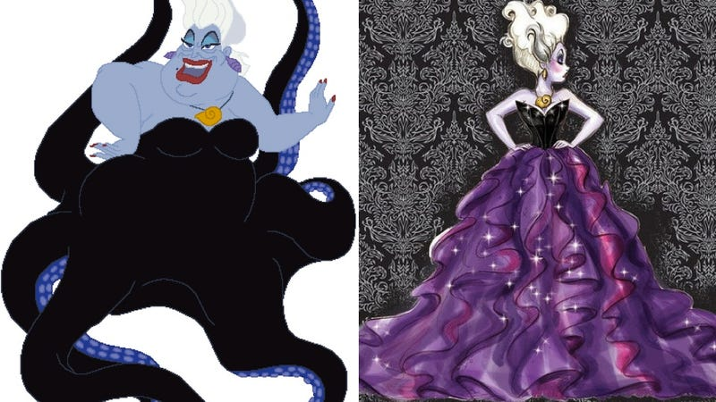 Illustration for article titled Ursula the Sea Witch Forced to Get Liposuction for Disney Villains Beauty Line