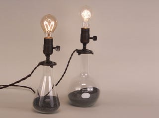 Illustration for article titled Embrace Your Inner Mad Scientist With These Beaker Lamps
