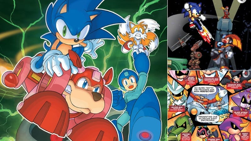 Illustration for article titled Sonic and Mega Man's Enemies Team Up to Make Some F***ed-Up Robots