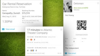 Illustration for article titled Google Now Adds Cards for Concerts, Car Rentals, Commuting, and More
