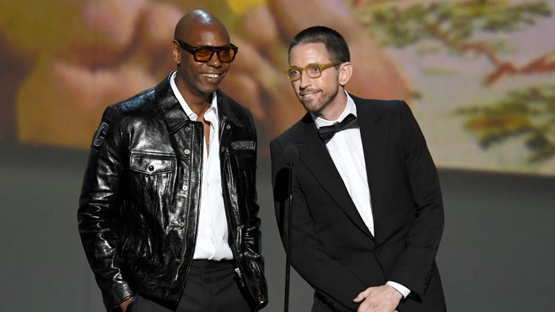 Chappelle and Brennan onstage at the 2018 Emmys