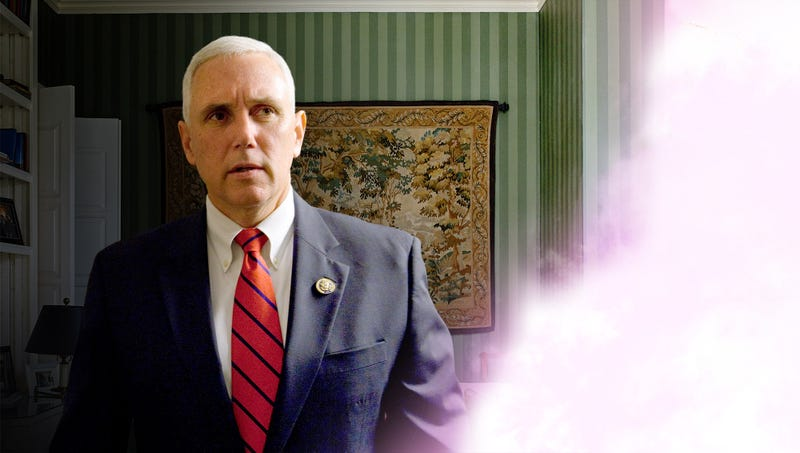 Illustration for article titled Mike Pence Struggling To Reckon With Vision Of Prophet Muhammad Revealing That VP Destined To Become Next President