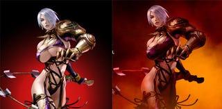 Illustration for article titled Namco Bandai In SHOCK Soul Calibur Breast Cover-Up