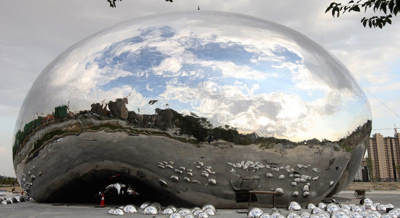 Illustration for article titled This City In China Built Its Own Chicago Bean In a Desolate Parking Lot