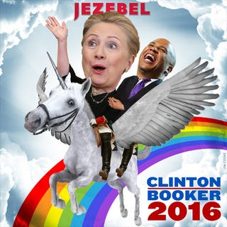 Illustration for article titled What America Needs Now: Clinton/Booker 2016