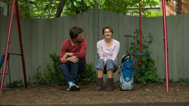 Illustration for article titled The Fault In Our Stars moves from page to screen, losing a little of its magic