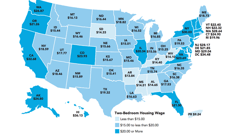 You'll Need a $22/Hour Wage to Afford a Two-Bedroom Rental in the U.S.