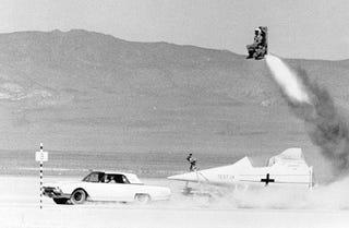 Illustration for article titled SR-71 Ejection Seat Test
