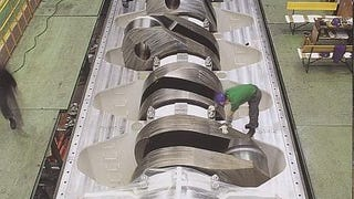 Y'all Ever See a Crankshaft So Big It Could Smush You When It Turned?