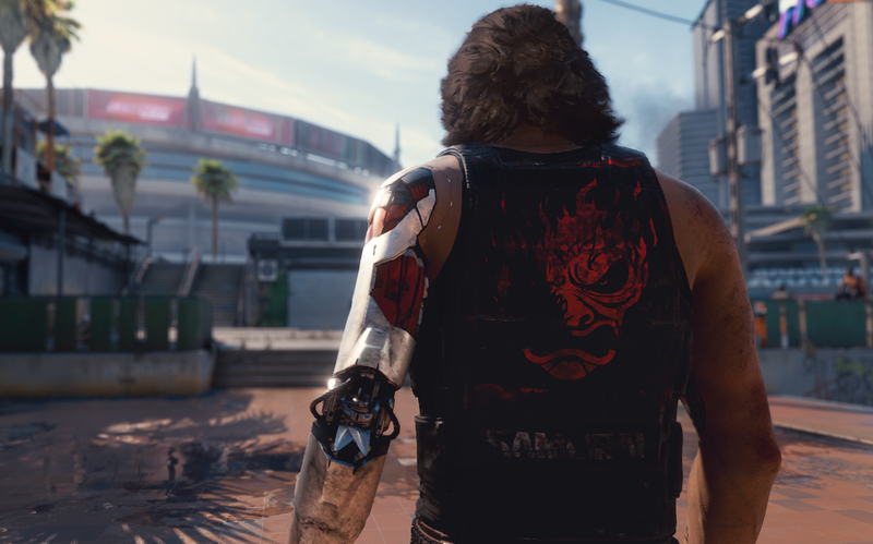 Illustration for article titled Cyberpunk 2077 Artist Says Controversial In-Game Image Is Commentary on Corporations