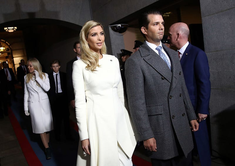 The Trump siblings, plus Eric and Tiffany (Photo: Win McNamee/Getty Images)
