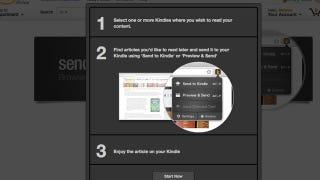 Illustration for article titled Send to Kindle for Firefox Delivers Web Content to Your Kindle