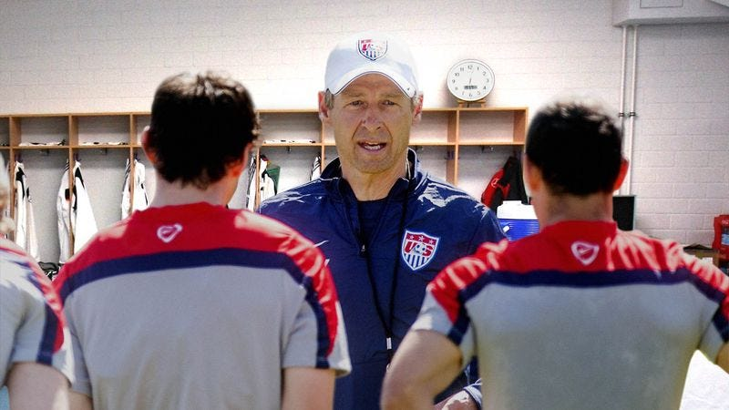 Illustration for article titled Jurgen Klinsmann Ends Moving Pregame Speech With 'We're Probably Going To Lose, Though'