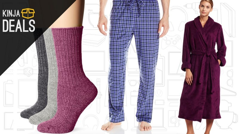 Illustration for article titled Save Big on Cozy Socks, Pajamas, and More, Today Only on Amazon