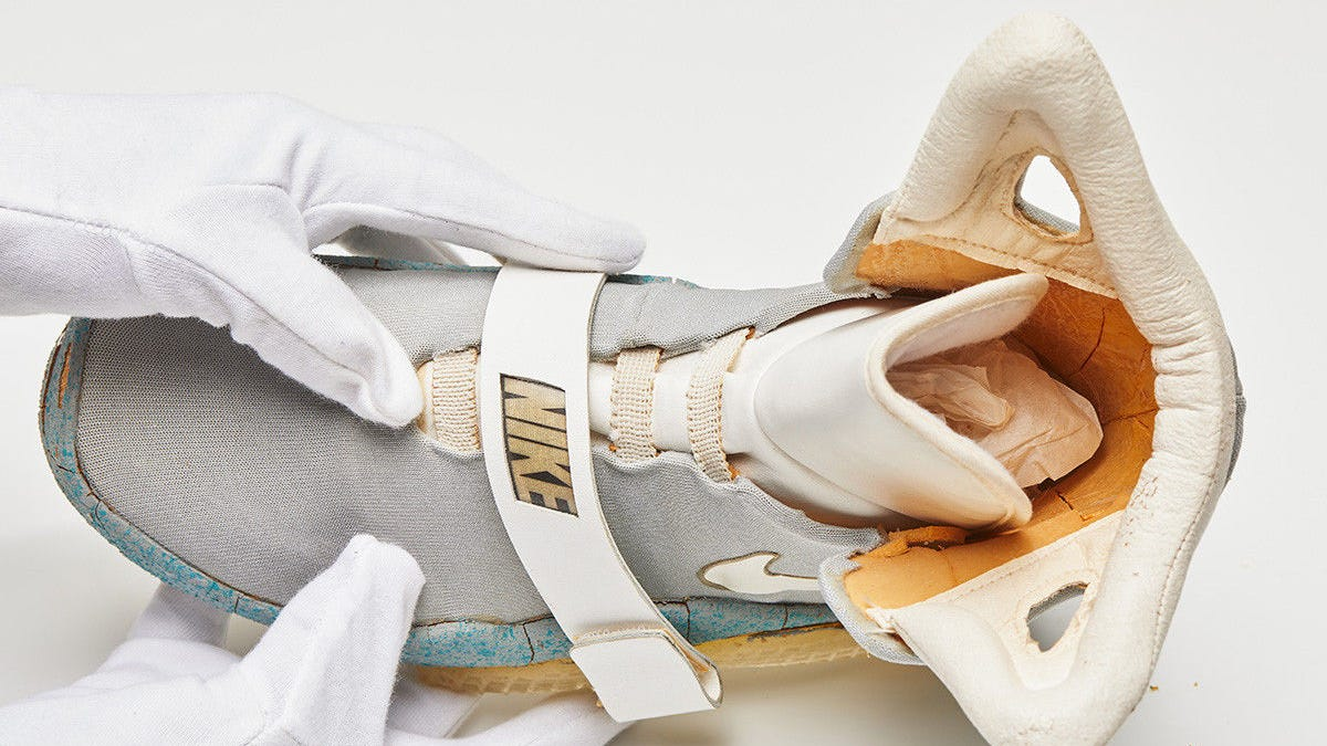 49dfd6ceb9 The Original Back To The Future II Sneakers Are Disintegrating [Update:  Sold For $92,000]