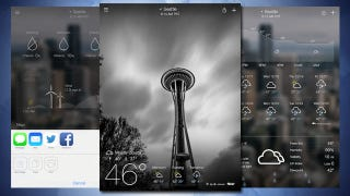 Illustration for article titled Yahoo Weather Adds iPad Support, New Animations, and Sharing Options