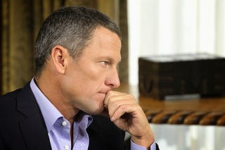 Illustration for article titled Cops: Lance Armstrong Hit Two Parked Cars, Girlfriend Took Blame