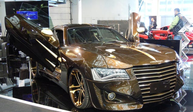 company tries to modernize a chrysler crossfire with audi lights. Black Bedroom Furniture Sets. Home Design Ideas