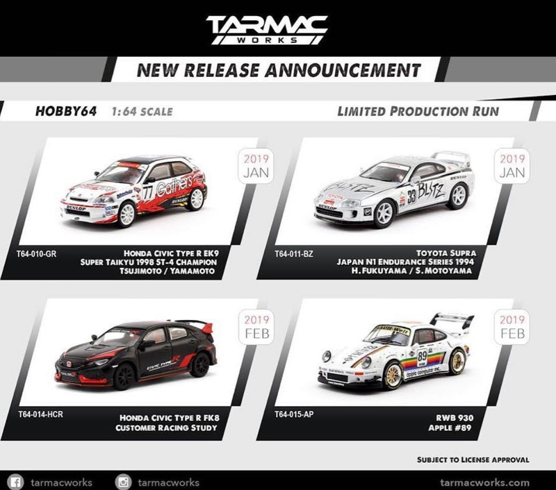 Illustration for article titled New Tarmac Models Announced