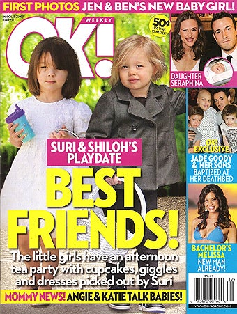Illustration for article titled This Week In Tabloids: Shiloh & Suri Forced To Be Friends; Katie Forced To Diet