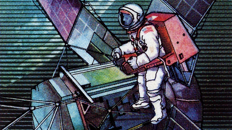 Illustration for article titled These Stamps Hail The Skylab Missions In 13 Awesome Ways