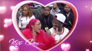 Rapper Gucci Mane (right) and girlfriend Keyshia Ka'oir moments before he proposed to her Nov. 22, 2016, in Atlanta.Twitter Screenshot