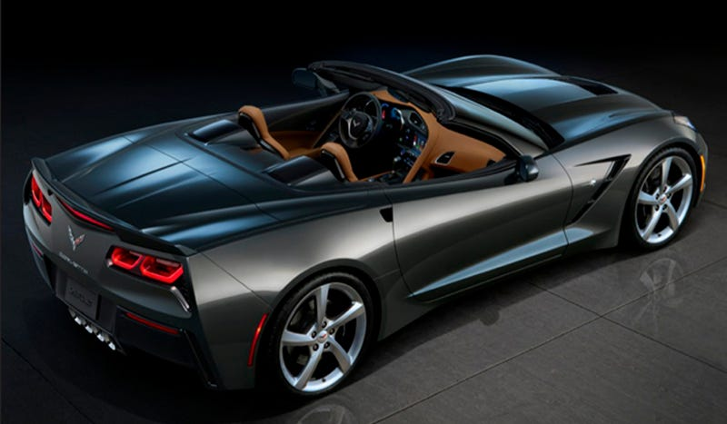 Illustration for article titled 2014 Corvette Convertible: This Is The Back Of It