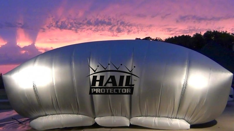 Illustration for article titled When the Weather Goes To Hail, Protect Your Ride With This Giant Airbag