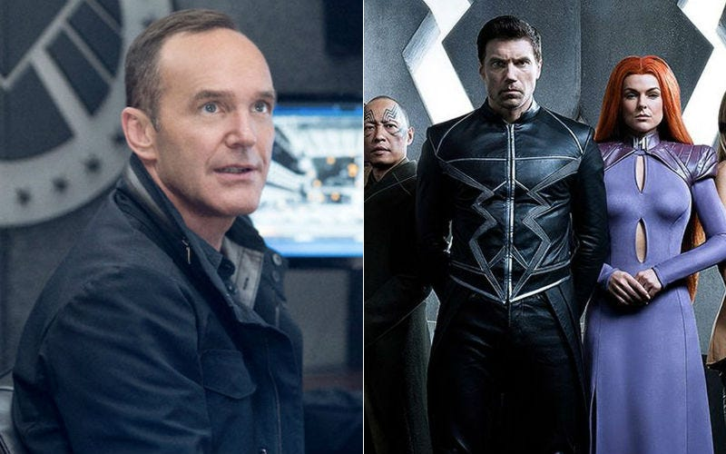 SHIELD and Inhumans are coming to Friday night. Images: ABC