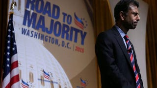 Louisiana Gov. Bobby Jindal speaks during the Road to Majority conference June 19, 2015, in Washington, D.C. The Faith & Freedom Coalition and Concerned Women for America held the annual event to discuss politics.  Alex Wong/Getty Images