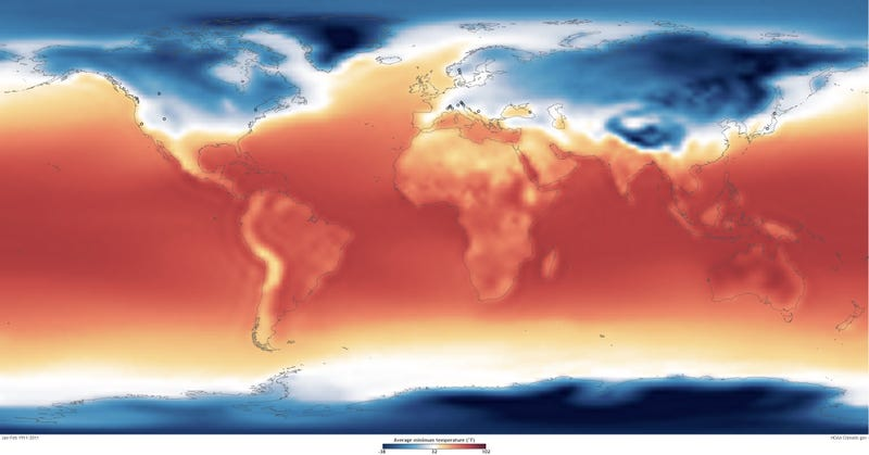 Illustration for article titled A climate map showing every Winter Olympics ever!