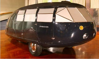 Illustration for article titled Buckminster Fuller's Dymaxion Car to be Displayed in New York