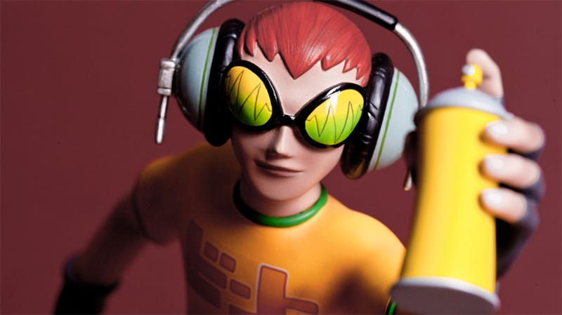 Illustration for article titled Jet Set Radio's Anti-Establishment Hero Looks Perfect In Polystone