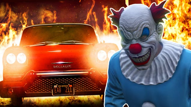 GTA Online Is Currently Haunted By Killer Clowns And Ghost Cars