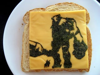 Illustration for article titled A Grilled Cheese Shadow of the Colossus